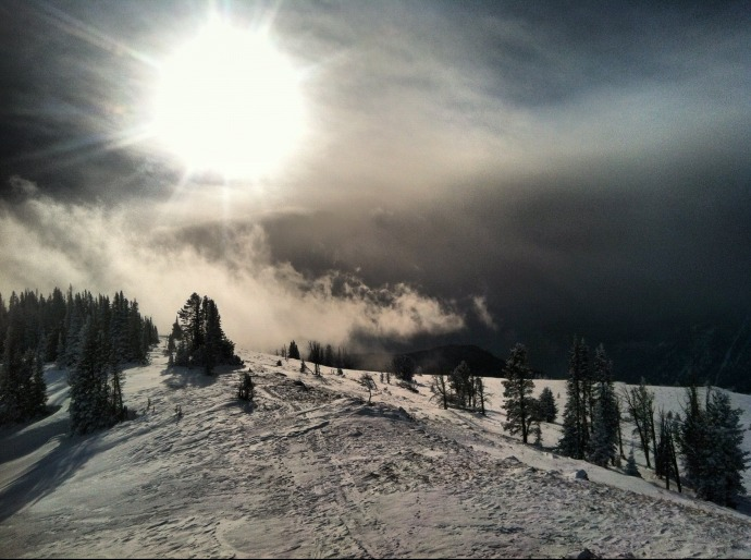 Sunshine on the ridge atop Garnet Mountain.  Photo by Zack Waterman
