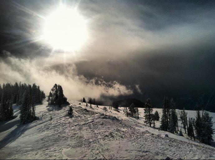 Sunshine on the ridge atop Garnet Mountain.  Photo by Zack Waterman